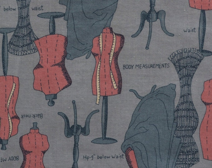 Sewing themed fabric Dress form fabric for tailor seamstress gift sewing Fabric Traditions