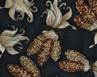 Thanksgiving fabric with Indian corn Debbie Mumm fabric