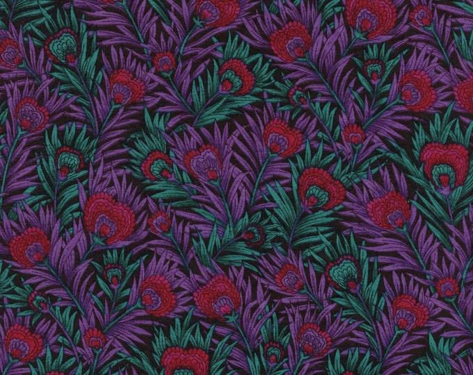 Peacock feathers fabric, OOP Hoffman fabric, half yard lengths