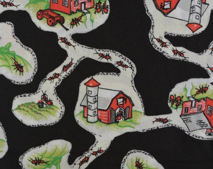 Ant farm fabric exterminator insects fabric VHTF fabric novelty fabric