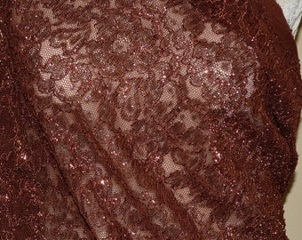 Stretch lace fabric, re embroidery floral, stretch floral lace, 4 yards