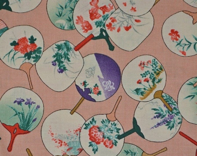 Alexander Henry fabric Asian fabric Japanese fabric Uchiwa fan
