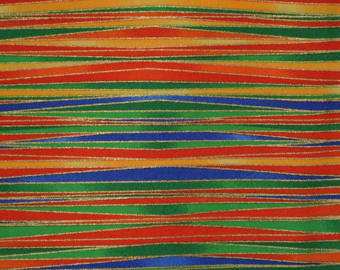 Bright stripes fabric, bright colored Timeless Treasures geomex