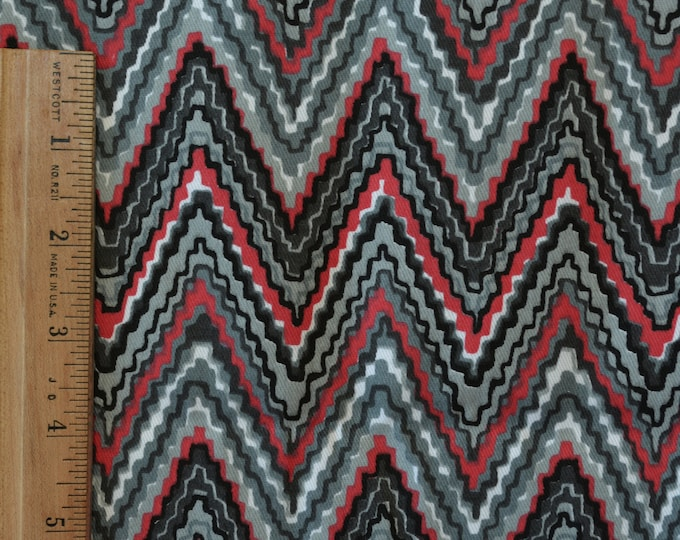 Cotton twill Upholstery fabric with flame stitch bargello print
