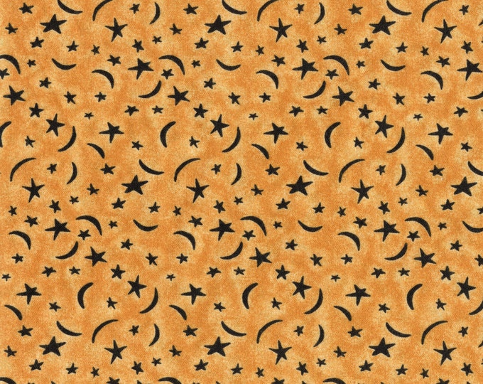 Crescent moon and stars fabric, Sharon Reynolds Northcott