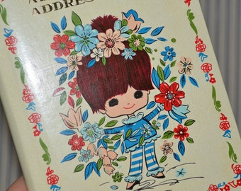 1970s mod groovy girl address book, American Greetings