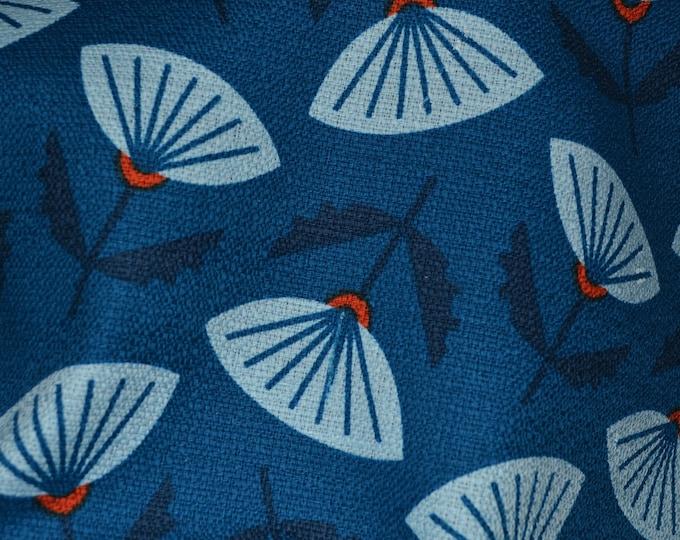 Cloud 9 organic cotton barkcloth fabric Japanese Asian fan Jessica Jones