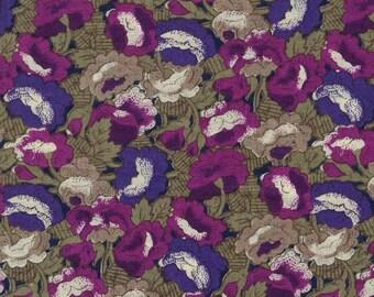 Abstract allover floral fabric, de Marco California