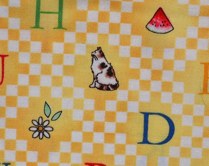 Baby fabric Hungry Animal alphabet J Wecker Frisch SSI fabric