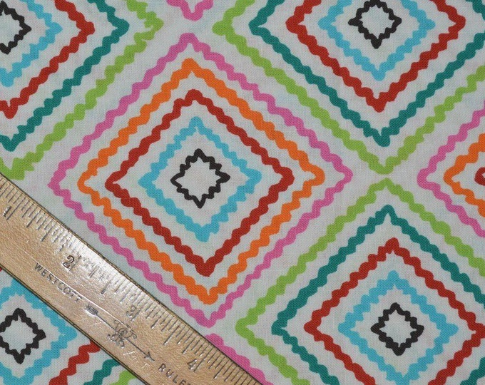 bright color fabric ricrac fabric Alexander Henry