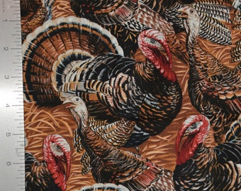 Turkey fabric for indoor decor wild turkey bird by Timeless Treasures
