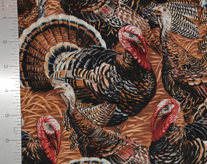Turkey fabric for indoor decor wild turkey bird by Timeless Treasures