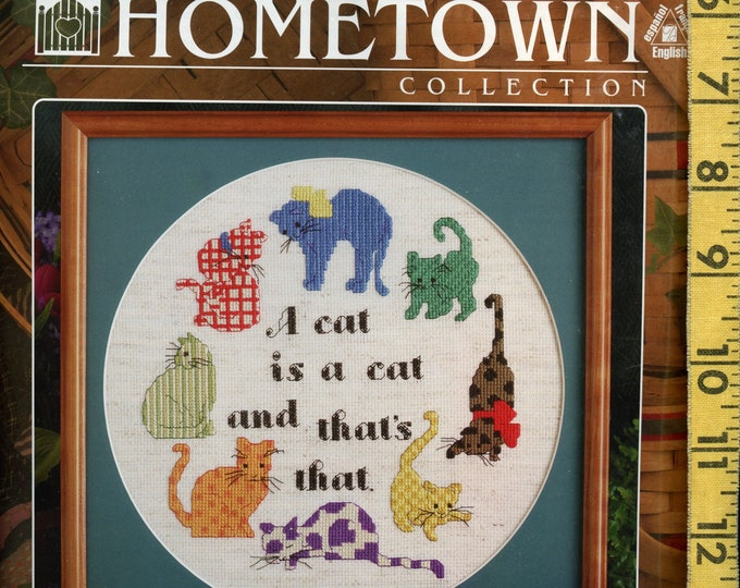 Cat theme Counted Cross Stitch Kit, Hometown Collection, Designs for the Needle