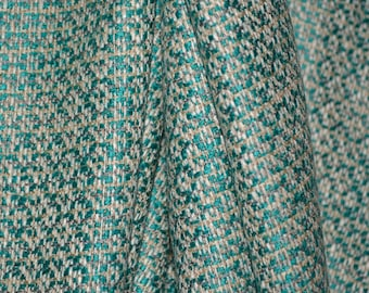 Woven suiting fabric, satin rayon multi color geometric pattern