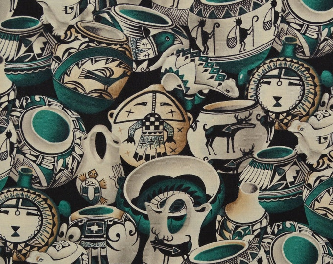 Southwest fabric Native fabric pottery fabric Hopi sewing fabric by the yard Michael Miller