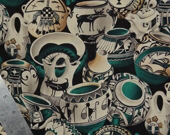 Michael Miller cotton fabric, pottery print fabric
