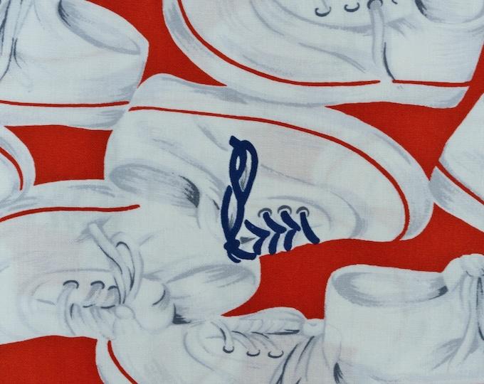 Converse shoes fabric sneakers fun fabric VHTF fabric novelty fabric