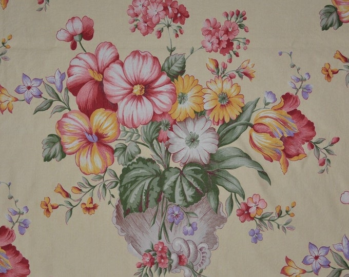 40s fabric romantic shabby chic fabric shell bouquet Queen Anne floral