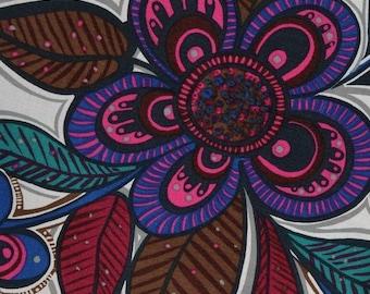 Danish Mod upholstery fabric, groovy large flowers