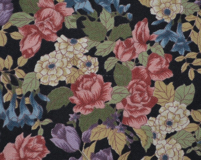 Multi Country floral fabric, Hoffman fabrics