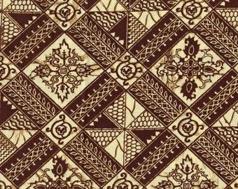 Indonesian Ethnic tribal fabric, geometric diamond
