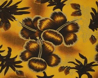 Vintage Hawaii fabric, hibiscus floral for Hawaii shirt