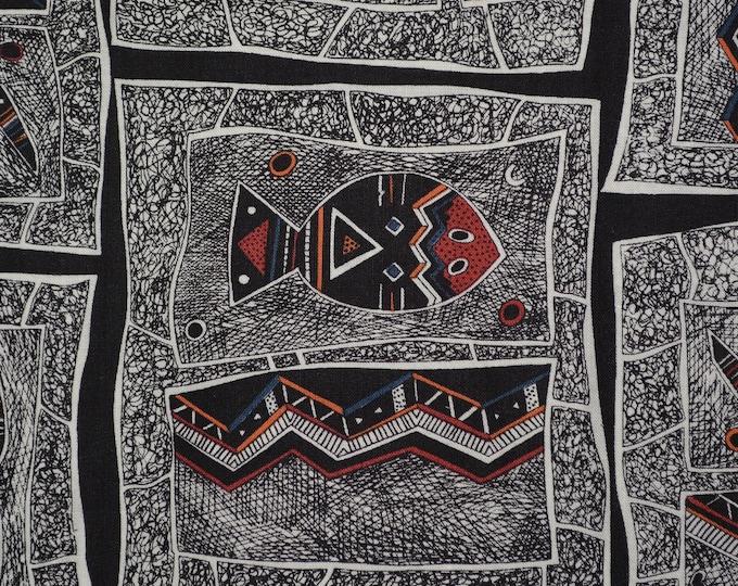 Hoffman fabric aboriginal fabric tribal fabric by the yard Australia aboriginal art fish reptiles