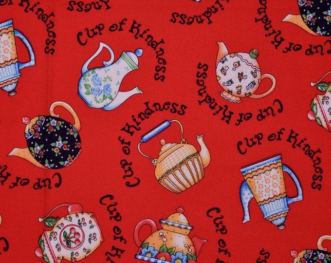 Mary ENGELBREIT fabric, Tea pot fabric Cranston VIP fabric
