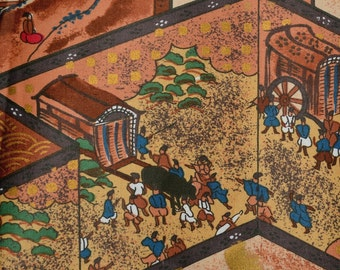 Asian fabric print, Hoffman Beachcomber rare fabric