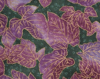 Japanese quilting fabric leaf print fabric Hoffman fabric Kimono Collection