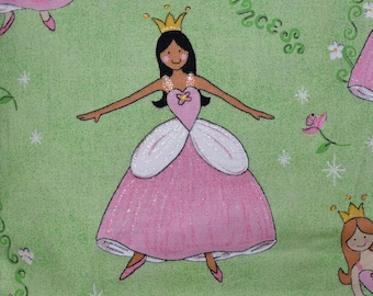 Glitter Ballerina Princess fabric by the yard for fairy princess party birthday