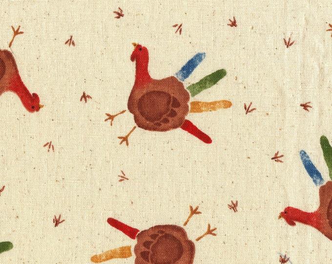 Tossed Turkey fabric, Daisy Kingdom
