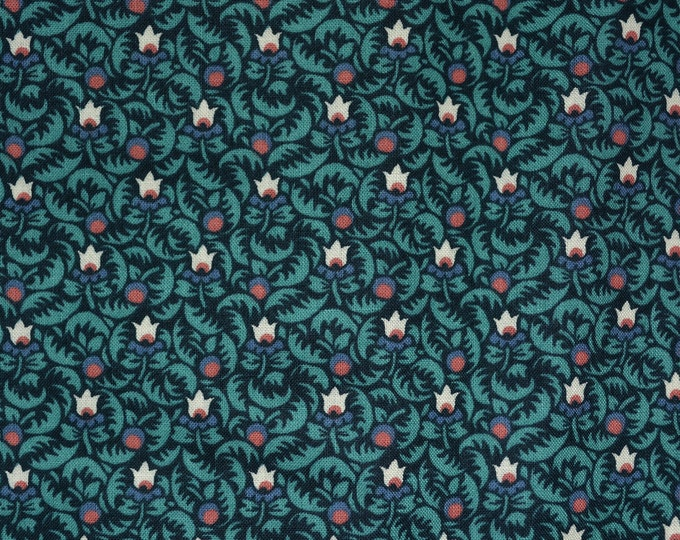 Stylized tulips fabric, Art Nouveau floral, Lowell quilt museum fabric