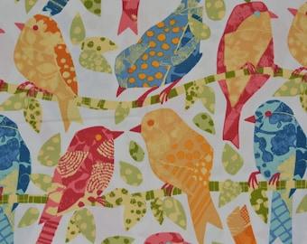 Spring Indoor outdoor fabric, song birds, Richloom upholstery