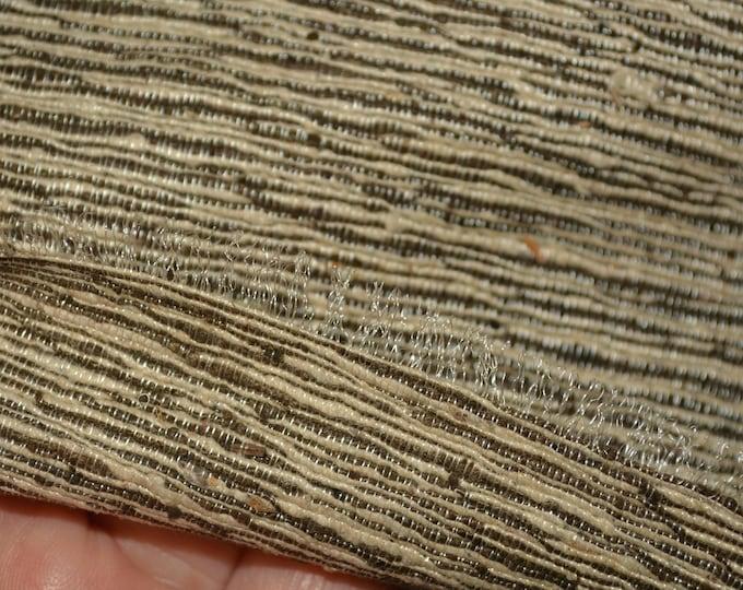 Hand woven raw silk fabric or Tussah silk fabric