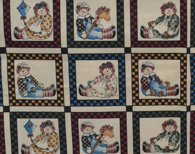 Primitive Rag doll fabric vintage Raggedy Ann and Andy inspired Dianna Marcum Marcus Brothers