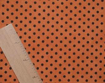 Halloween polka dots fabric, moda HALF YARD lengths