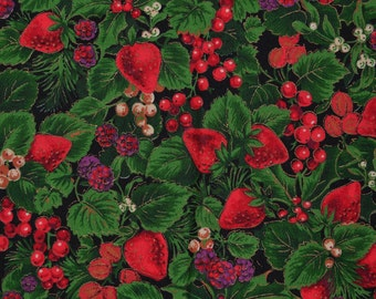 Christmas fabric with Strawberry print, Joan Messmore