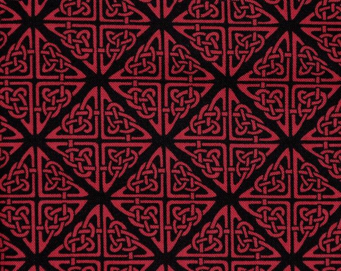 Scotland Celtic knot fabric Fabric red black tessellation fabric