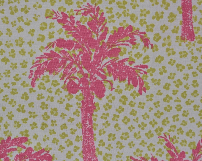 Tropical fabric, Palm tree fabric  upholstery cotton by Brunschwig and Fils