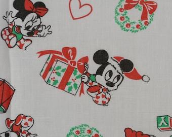 Retro Mickey Mouse fabric vintage Disney baby fabric Christmas