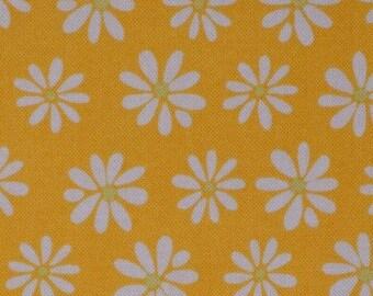 Spring floral fabric, Yellow daisy, monaluna, Robert Kaufman