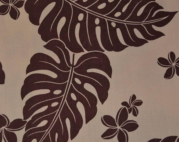 Hawaiian fabric Monstera plant fabric Hawaiian leaf Trans Pacific Textiles tropical leaf fabric