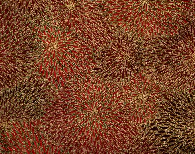 Asian fabric, mum flower Robert Kaufman Imperial Collection