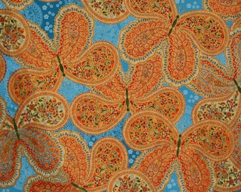 Large scale Butterfly fabric by the yard, Robert Kaufman