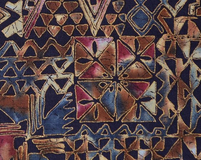 Multicolor fabric ethnic tribal fabric Hoffman Batiks