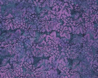 Grapes fabric, blues purple batik tie dyed QUILTING COTTONS