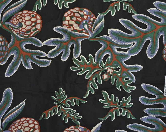 Large leaf fabric with acorns, nature fabric, Hoffman