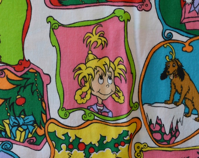 VHTF Grinch Christmas fabric Whoville Dr Seuss fabric by the yard Springs