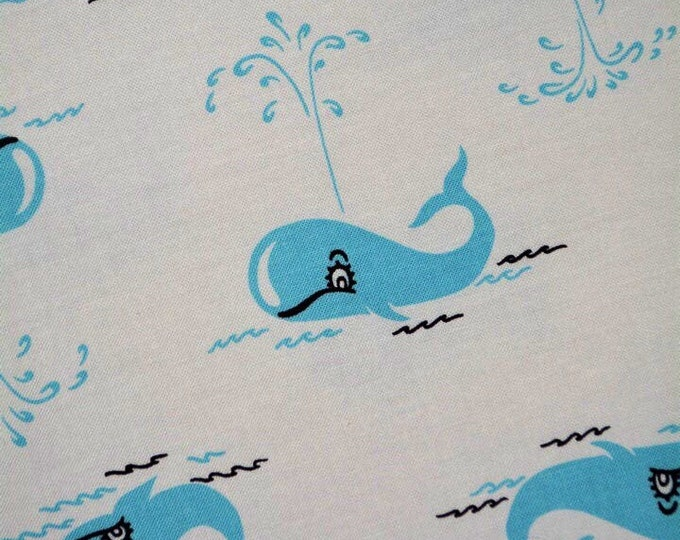 Baby whale fabric Michael Miller baby whale baby shower